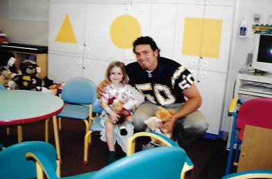 My daughter with David Binn at SD Children's Hospital