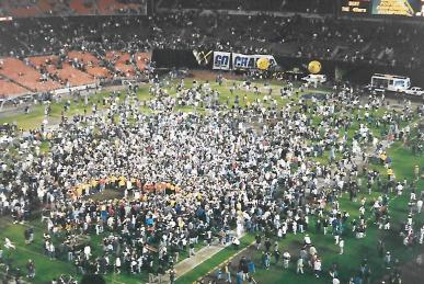Post Championship game field party.